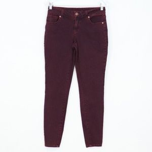 Maurices skinny purple jeans women's 4